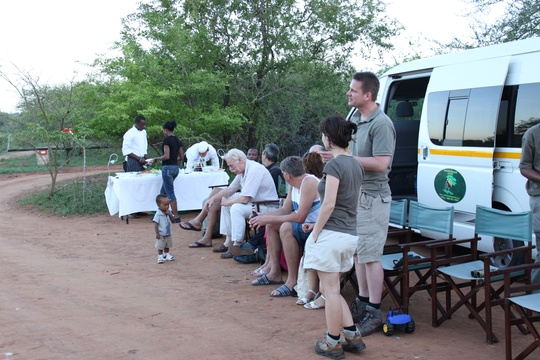 Relaxing And Enjoying The Scenery Of The African Bush Veld