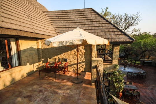 Private balcony on first floor overlooking the African bush veld