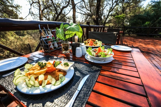 Grand Kruger Lodge Lunch Overlooking the African Bush Veld