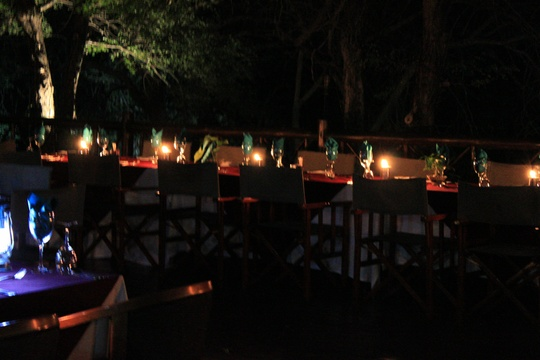 Grand Kruger Lodge Outdoor Dinner