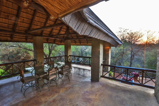 First floor view of the African bush veld