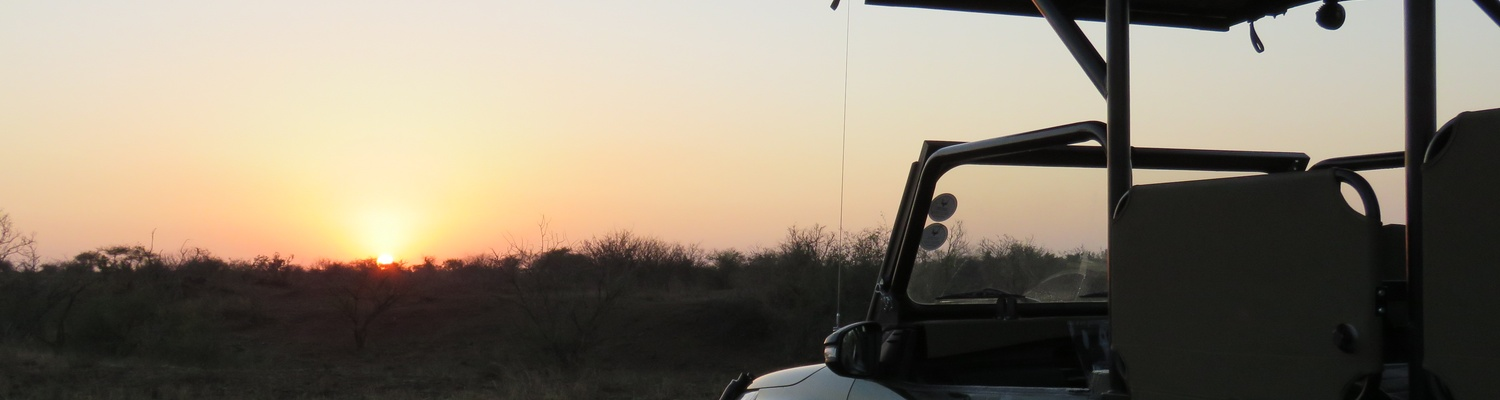 Sunset Drive in Kruger National Park